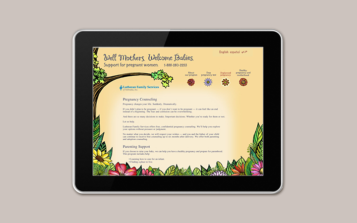 Lutheran_Family_Services_nonprofit_healthcare_multilingual_ethnic_pregnant_baby_website_3